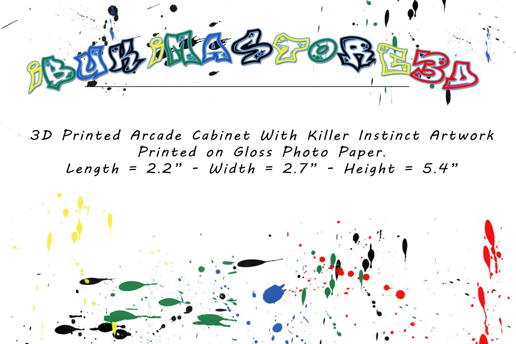 Mini Killer Instinct Arcade Cabinet Collectible Display ...